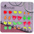 Fluorescent Color Cute Magnetic Stud Earrings for Girls Kids Women, Pack of 12