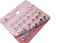 4mm Color Crystal Magnetic Stud Earrings for Kids Girl Women