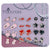 Pack of 12 Pairs Color Enamel Magnetic Stud Earrings for Teen Girls Kids Women A
