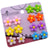 Mixed 7 Color Resin lovely Flower Magnetic Stud Earrings for Teen Girls Kids Womens
