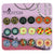 Mosaic Printed Glass Dome Cabochons Magnetic Stud Earrings for Teen Girls Kids Womens, Random Mixed