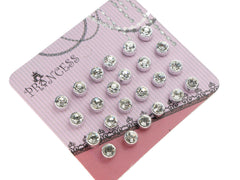 5mm Clear Crystal Magnetic Stud Earrings for Kids Girl Women, Pack of 12