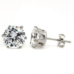 Bling Bling Sparkling 8mm Cubic Zirconia Stud Earrings