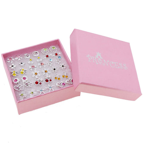 Multi-Color Crystal Fashion Jewelry Stud Earrings with Gift Box