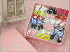 Cute Fashion Stud Earrings for teen girls Kids, Wholesale Lot of 18 Pairs [C]