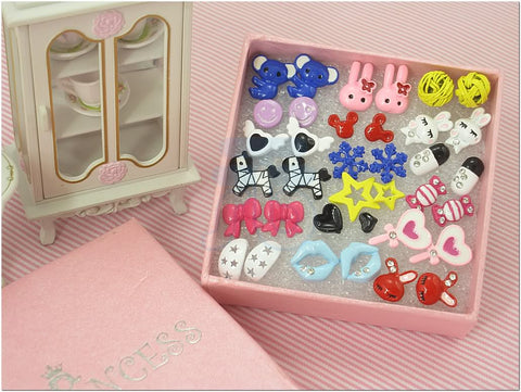 Cute Fashion Stud Earrings for teen girls Kids, Wholesale Lot of 18 Pairs [D]