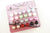 Color Bead Faux Pearl Stud Earrings, 72 Pairs, Mix Color and Size
