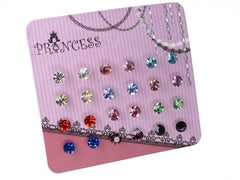 "Pack of 12 Pairs 3/16"" (5mm) Color Small Crystal Stud Earrings Fashion Jewelry for Teens Girls Women"