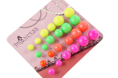 Bubble Gum Ball Candy Style Fashion Jewelry Pearl Stud Earrings Pack of 12 Pairs