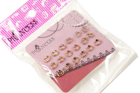 Wholesale Lot of Rose Gold Hello Kitty Color Crystal Studs Earrings Girls Kids Womens