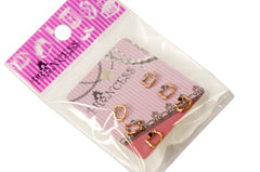 Lot of 3 Rose Gold Hello Kitty Color Crystal Studs Earrings Girls Kids Womens