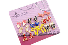 Wholesale Lot of 9 Pairs Color Enamel Fashion Jewelry Earrings for Girl Women A