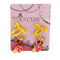 Pack of 3 Pairs Color Enamel Fashion Jewelry Earrings for Teen Girl Women J Set
