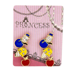 Pack of 3 Pairs Color Enamel Fashion Jewelry Earrings for Teen Girl Women K Set