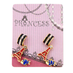 Pack of 3 Pairs Color Enamel Fashion Jewelry Earrings for Teen Girl Women L Set