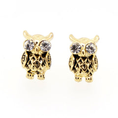 Color Enamel Fashion Jewelry Earrings for Teen Girl Women Owl Crystal Eye