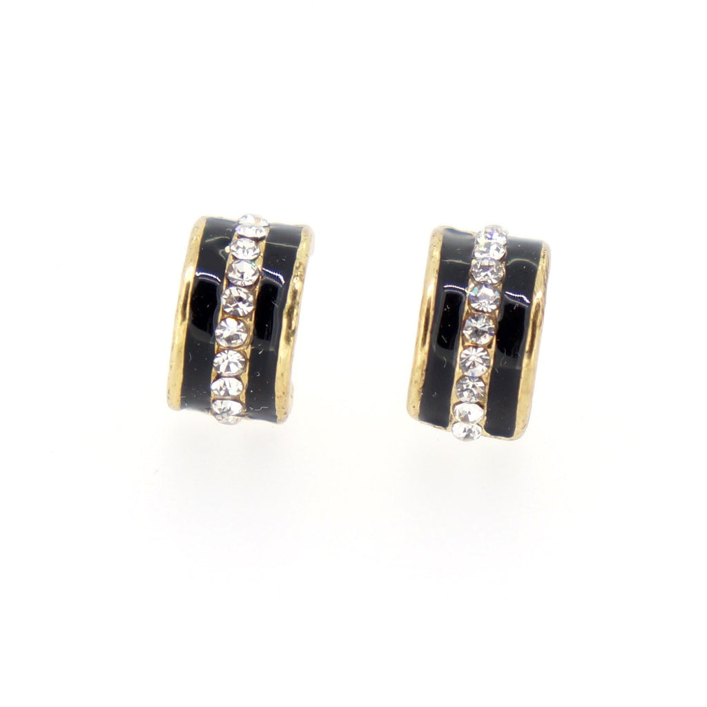 Color Enamel Fashion Jewelry Earrings for Teen Girl Women Black ...