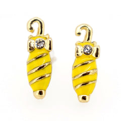 Color Enamel Fashion Jewelry Earrings for Teen Girl Women Yellow Umberlla