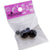 Women's Double Side Electroplated Plastic Ball Stud Earrings, Black Color, 1 pair