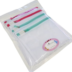 Mesh Net Laundry Wash Bags w Zipper for Garment, Pack of 4, XL+M Sizes, Wholesale