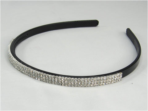 Wedding Headband Three-row Rhinestone Crystal Hair Accessory