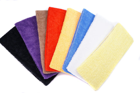 Color Terry Cloth Youth Sports Sweatband Headband
