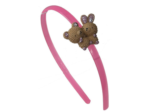Cute Bear and Rabbit Headband Hair Band for Teen Girl Baby Toddler (Brown Color)