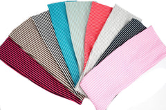 Color Stripe Stretchy Headband for Women or Girl Fashion Accessories, Pack of 9