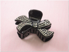 Black Rhinestone Fashion Plastic Hair Claw Accessories