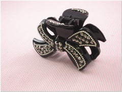 Black Rhinestone Fashion Plastic Hair Claw Accessories Style E
