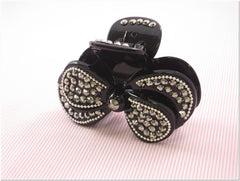 Black Rhinestone Fashion Plastic Hair Claw Accessories Style F