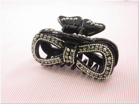Black Rhinestone Fashion Plastic Hair Claw Accessories Style A