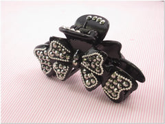 Black Rhinestone Fashion Plastic Hair Claw Accessories Style B