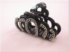 Black Rhinestone Fashion Plastic Hair Claw Accessories Style C