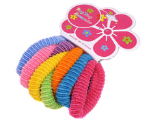 Lot of 8 Color Terry Elastic Ponytail Holder Ties Hair Styling Accessories