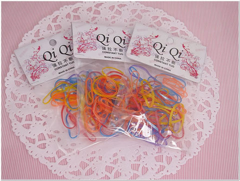 Pack of 150 Assorted Color Rubber Band Hair Ponytail Holder Scrunchies Accessories for Girl Women