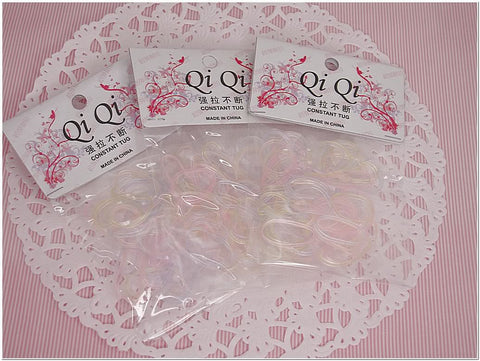 Pack of 150 Transparent Color Rubber Band Hair Ponytail Holder Scrunchies Accessories for Girl Women