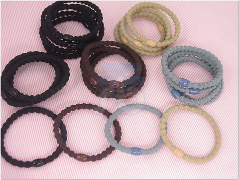 Lot of 25 Color Elastic Ponytail Holder Ties Hair Styling Accessories