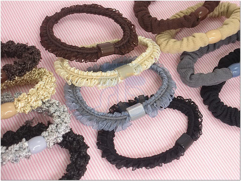 Wholesale Lot of Color Elastic Ponytail Holder Ties Hair Styling Accessories