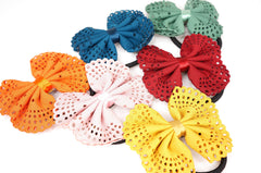 Color Butterfly Bow Ribbon Ponytail Holder Hair Accessories
