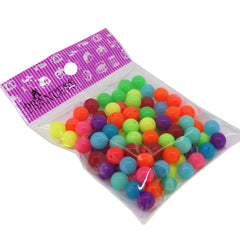 10mm Fluorescent Candy Ball Acrylic Beads, Color Randomly Mixed, 50g around 85pcs