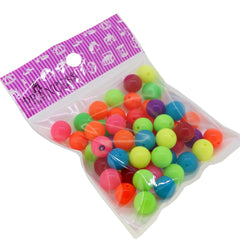 12mm Fluorescent Candy Ball Acrylic Beads, Color Randomly Mixed, 50g around 50pcs