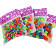 Fluorescent Candy Ball Acrylic Beads, Color Randomly and Size Mixed