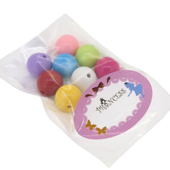 Colorful Chunky Bubblegum Acrylic Beads, Round, Mixed Color, about 24mm in diameter, hole: 2mm