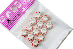 Charm Beads,  Color Crystal Spacer for European Bracelet - Light Siam
