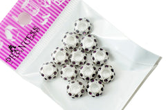 Charm Beads,  Color Crystal Spacer for European Bracelet - Amethyst