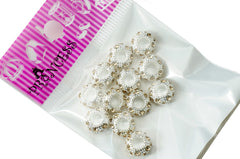Charm Beads,  Color Crystal Spacer for European Bracelet - Jonquil
