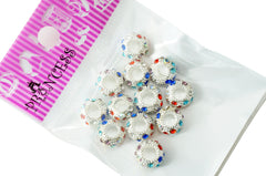 Charm Beads,  Color Crystal Spacer for European Bracelet - Mix Color