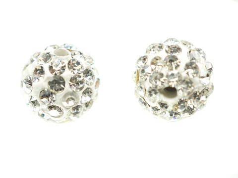 10mm Clear Color Crystal Shamballa Beads Pave Disco balls