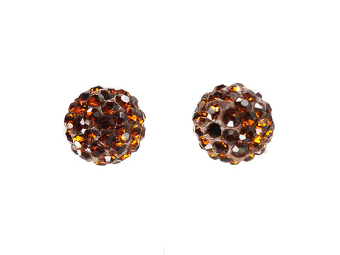 Smoked Topaz Color Crystal Shamballa Beads Pave Disco balls n Spacer Jewelry Supplies